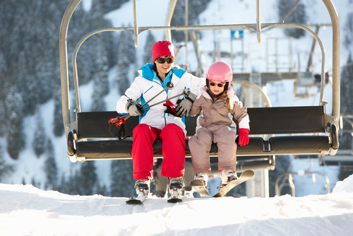 mother-and-daughter-riding-chairlift