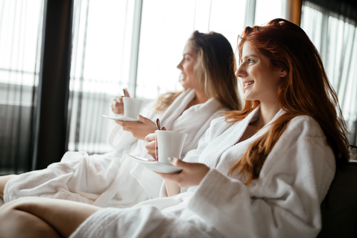 women-at-spa-in-bathrobes