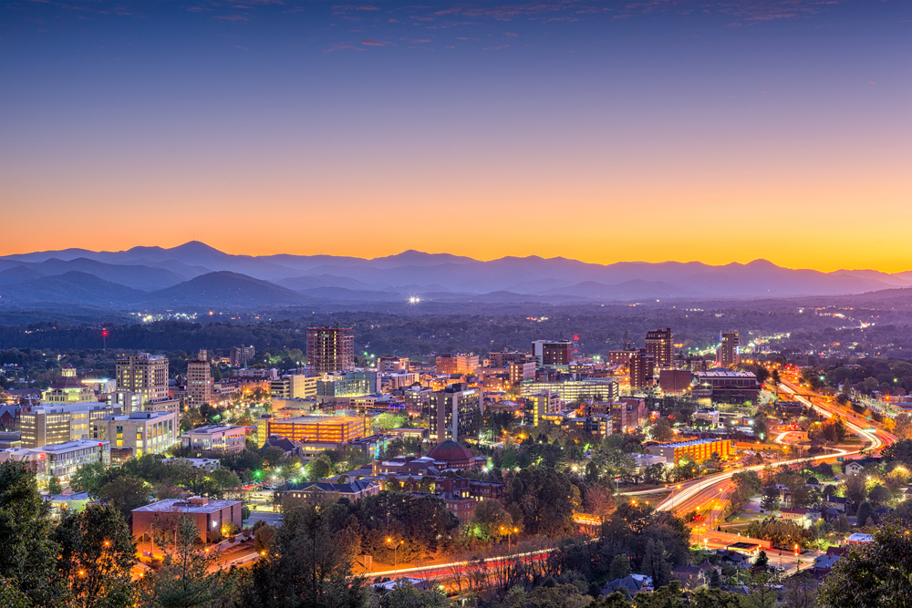 asheville-at-sunset