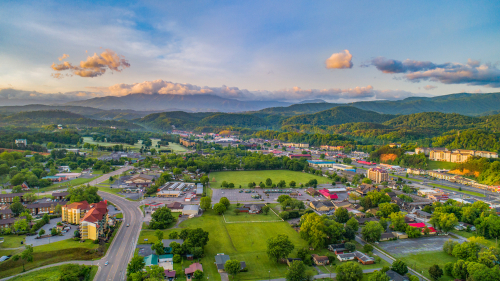 pigeon-forge-drone-aerial