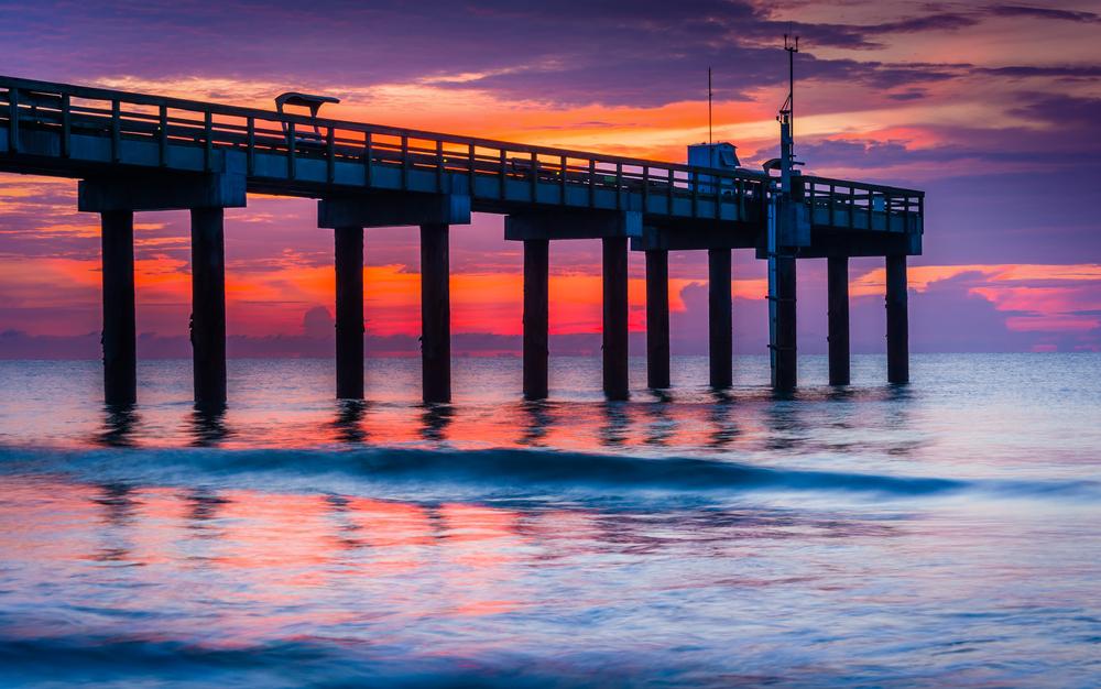 st-augustine-beach-pier-sunset