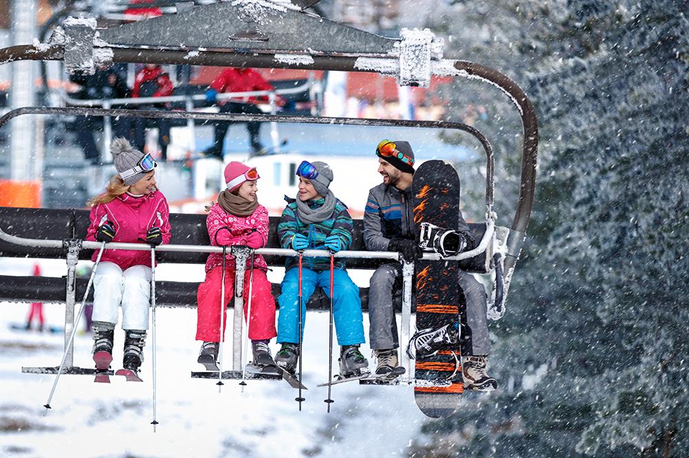 family-on-ski-lift