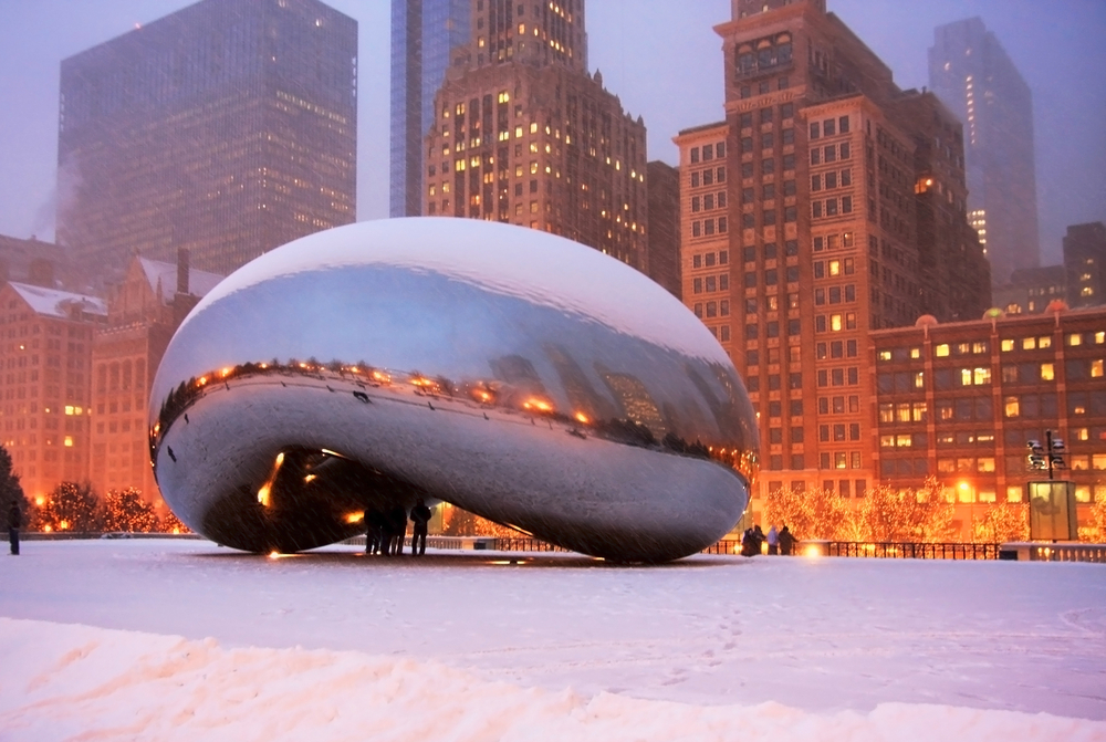 chicago-cloud-gate-in-winter