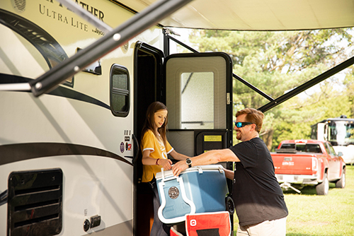 Helping With Cooler Outdoorsy RV