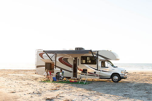 Outdoorsy RV Relaxing Outside